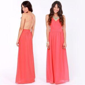 Lulu's Maxi Dress - garden rooftop pink maxi dress